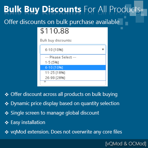 Bulk buy discounts for all products