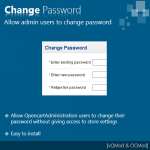 Change password for Admin Users