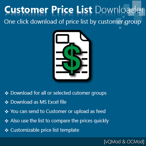 Customer Price List Downloader