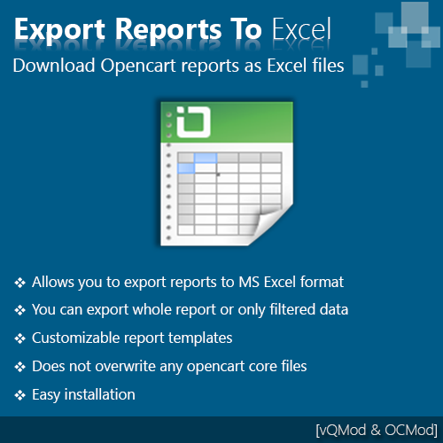 Export Reports to MS Excel