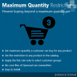 Maximum quantity purchase restriction